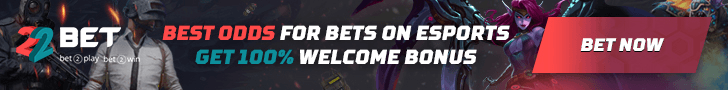 22bet bonus code for esports betting - 100% up to $122 on your first deposit