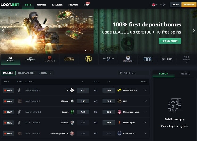 loot.bet csgo betting site general overview & overlay